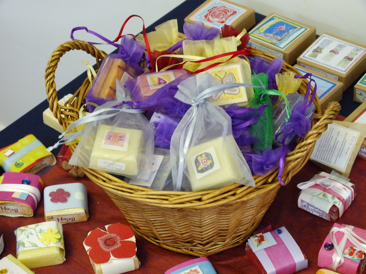 Selection of products from Inspire Soaps
