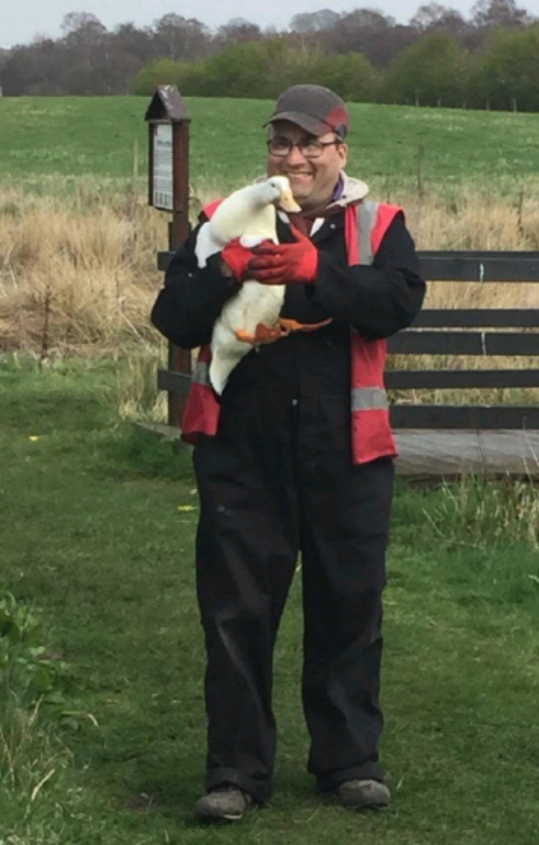 Grant with Duck