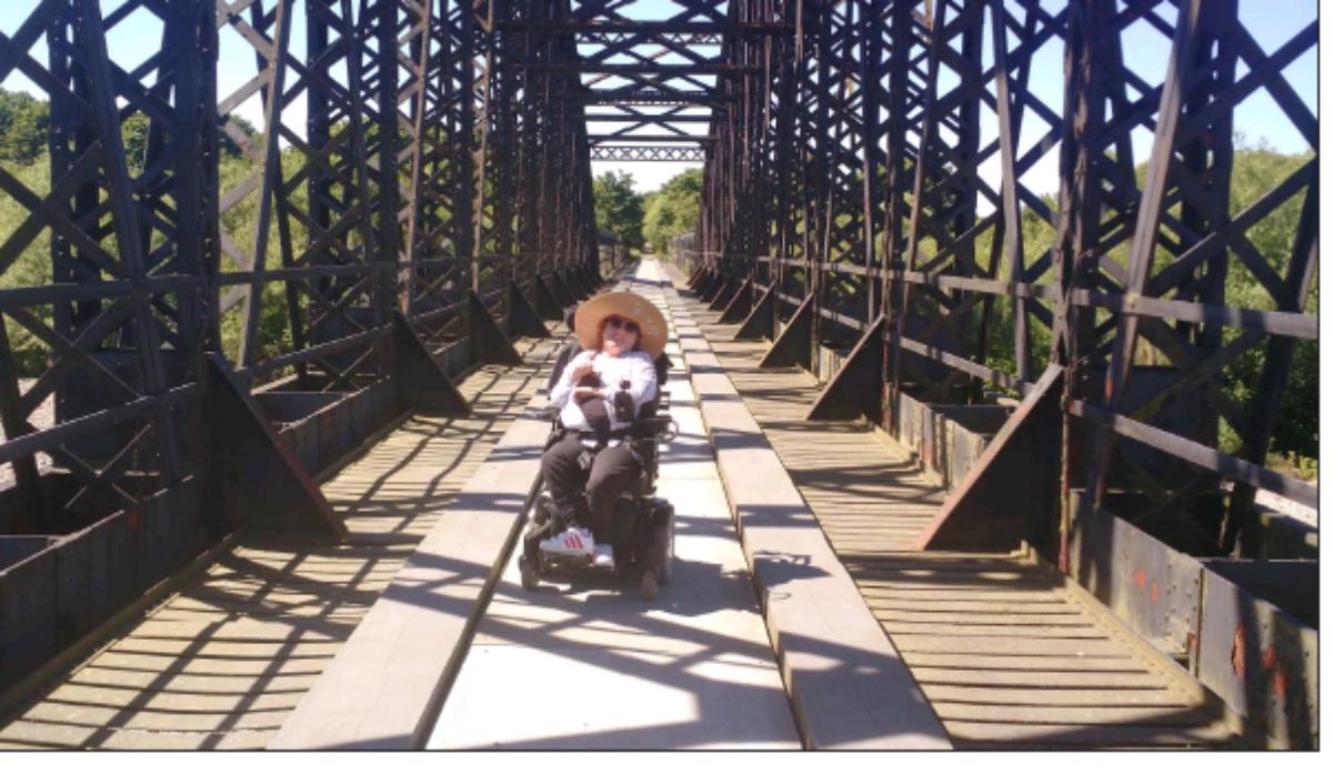 Tamara on bridge